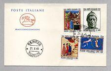 """ITALIA, ITALIE, ITALIEN, REPUBBLICA 1965 FDC """"POSTE ITALIANE"""" DANTE ALIGHIERI"""