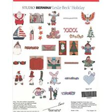 Studio Bernina Brother Baby Lock Embroidery Memory Card Leslie Beck Holiday New
