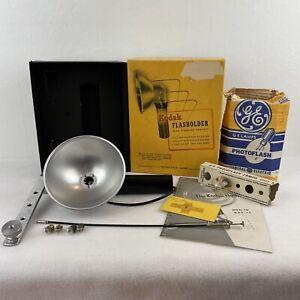 Vintage Kodak Flasholder with Original Box Manual & Bulbs