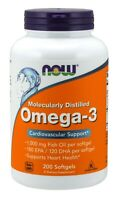 NOW Supplements, Omega-3 180EPA/120 DHA, Cardiovascular Support, 200 Softgels