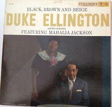 33 SPEED -COLUMBIA RECORDS - DUKE ELLINGTON - BLACK, BROWN, BEIGE - LP - LISTEN!