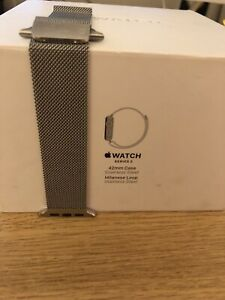 Apple Watch Milanese Loop Strap 42mm Stainless Steel Silver