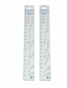 Aluminium Farbrührer Farbmischstab 2:1 / 3:1 2 Größen Rührstabe für Lacke 22cm