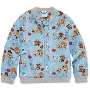 Nwt Girls Size 9/10 Disney Frozen Elsa Spring Summer Zip Up Lightweight Jacket