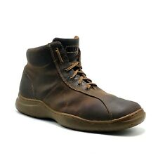 GBX Mens Sz 11M Brown Leather Lace Up Oiled Ankle Boots Desert Casual Booties