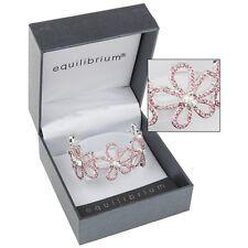 bracelet Equilibrium silver plated friends crystal flower pink Bangle gift