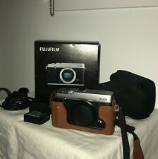 FUJIFILM X-E2 16.3 MP Digital Camera Body (Silver) with Original Box and Cases