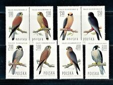 POLAND 1975 BIRDS FALCONS FULL SET SCOTT 2074-81