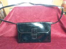 Sac Pochette vernie à bandoulière amovible VINTAGE 70 black shoulder clutch bag