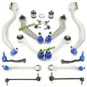 for BMW E39 540i M5 Front&Rear Suspension Control Arm Tie Rod Sway Bar Links Kit
