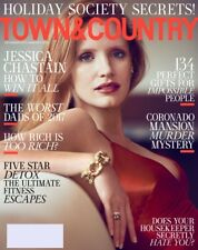 TOWN AND COUNTRY MAGAZINE DEC 2017 -JESSICA CHASTAIN HOLIDAY SOCIETY SECRETS