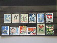 Denmark CHRISTMAS STAMP 1940 - 1951 MNH WWW II complete VF
