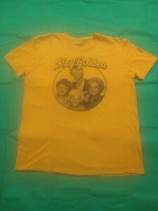 Golden Girls Stay Golden Graphic T Shirt Size XL 46/48 ABC Studios Yellow Gold