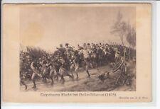AK A. C. Gow, Napoleons Flucht bei Belle-Aliance, Feldpost Dillingen 1915