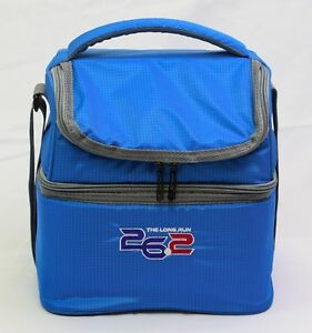 26.2 The Long Run 9 Can Softside Insulated Cooler with Lunch Tote Bag - BLUE