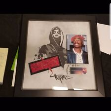 Tupac Shakur Signed Autograph Red Bandana Memorobilia 2Pac Certificate Authentic