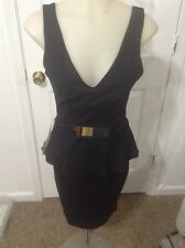 bebe black Peplum Dress Size Small