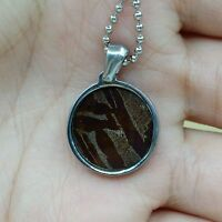 Meteorite pendant iron seymchan accessory necklace jewelry round amult colourful