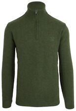Paul & SHARK YACHTING MAGLIONE SWEATER Troyer dimensioni 4xl 100% LANA WOOL Verde Nuovo