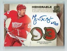 11-12 UD The Cup Honorable Numbers  Johan Franzen  /93  Auto  Patches