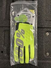 New 100% Brisker Cold Weather MX Motocross Offroad Gloves LG Fluo Yellow