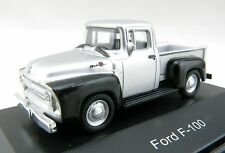 Schuco 1956 Ford F-100 Pick Up Van Silver & Black Diecast Display H0 Scale 1:87