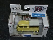 M2 MACHINES VW AUTO THENTICS 1960 VW DOUBLE CAB TRUCK USA MODEL GOLD CHASE
