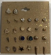Small Stud Earrings Sets • 13 Pairs •