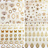 1 Sheet Gold Heart Bufferfly 3D Nail Art Adhesive Stickers DIY Bronzing Manicure