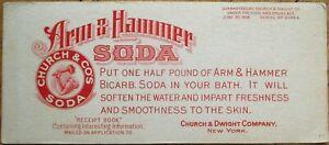 Arm & Hammer Baking Soda 1906 Advertising Blotter - Church & Dwight Co., NY