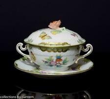 Herend Porcelain Queen Victoria Cream Soup Bowl, Lid and Saucer, 744