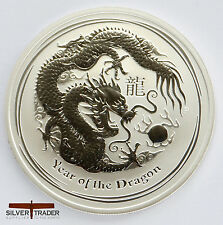 2012 1oz Australian year of the Dragon 1 ounce Silver Bullion Coin