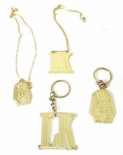 Tyga Last Kings Pharaoh Lk Logos Gold Colored Keychain Necklace 4 Pc Set New Rap