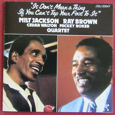 MILT JACKSON RAY BROWN  CP  IT DON'T MEAN A THING IF YOU CAN'T TAP YOUR FOOT TO
