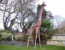 Extra large Giraffe garden ornament, safari giraffe large outdoor statue