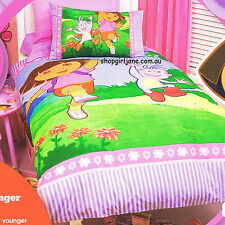 Dora the Explorer & Boots - Play - Double/US Full Bed Quilt Doona Duvet Cover