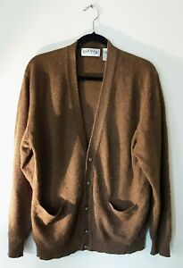 Orvis Black Wool Cashmere pure 1856 Cardigan Sweater Size jumper soft