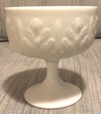 FTD 1978 White Milk Glass  Pedestal Goblet
