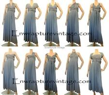 TITANIUM GRAY FULL LONG LENGTH TRANSFORMER CONVERTIBLE DRESS WRAP SZ:US 0-14