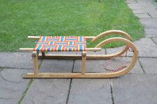 Vintage old wooden sleigh wooden sledge snow sleigh - FREE POSTAGE