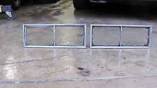 1981-1987 Pontiac Grand Prix Headlight Lamp Bezels Pair Trim Oem Chrome 81-87