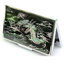 Business Card case ID Card Credit Card Holder Korea Mother of Pearl Dragon C27