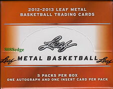 2012-13 LEAF METAL BASKETBALL HOBBY BOX: 5 AUTOS - SHAQ/MAGIC/BIRD/PIPPEN/EWING