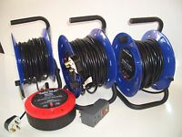 MAINS EXTENSION REEL 13 AMP RCD 10m,15m,20m,25m,30m,40m,50m 4 SOCKETS RCD