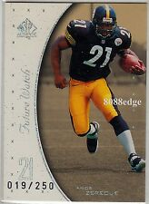 1999 SP AUTHENTIC ROOKIE CARD RC #133: AMOS ZEREOUE #19/250 PITTSBURGH STEELERS