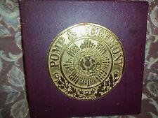 BOX SET - POMP & CEREMONY  - 4 LP -  £5