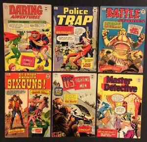 DARING ADVENTURES #17 Police Trap BATTLE STORIES 1964 SUPER COMICS REPRINTS Fine