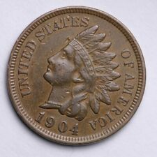 1904 Indian Head Cent Penny NICE VF / XF Sharp LIBERTY -- FREE SHIPPING **