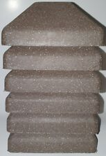 Brown Plastic Textured Fence Post Caps 5 x 5 Qty 6