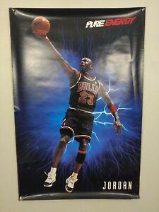 Original Vintage Costacos 90s Michael Jordan Chicago Bulls Pure Energy Poster